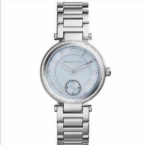 New Michael Kors blue silver skylar watch